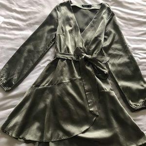 Olive Silk dress